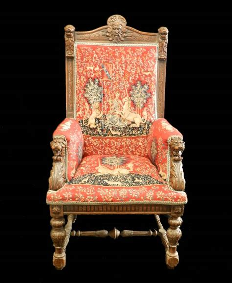 Throne Armchair by C1840 Renaissance Throne Chair Fauteuil Masters