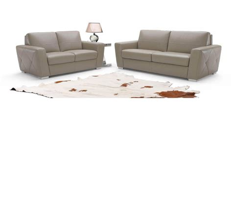 dreamfurniture com 953 modern italian leather sofa set