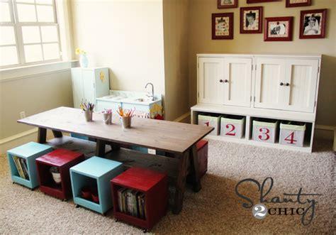diy play room playroom table diy shanty 2 chic
