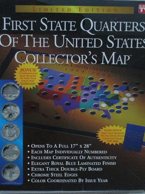 state quarters of the united states collectors map state quarters of the united states collector s map