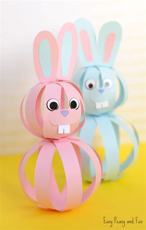 Kid Paper Crafts - easy paper bunny craft easter idea for easy peasy