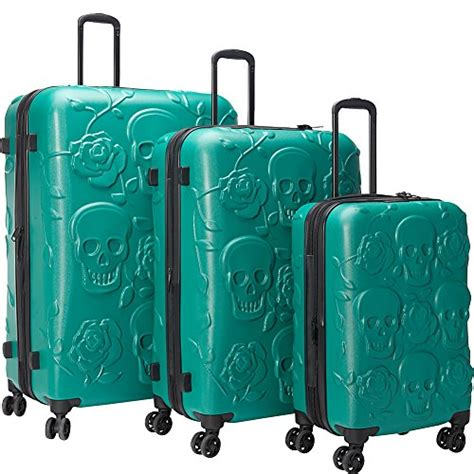 gorgeous green suitcases and luggage sets