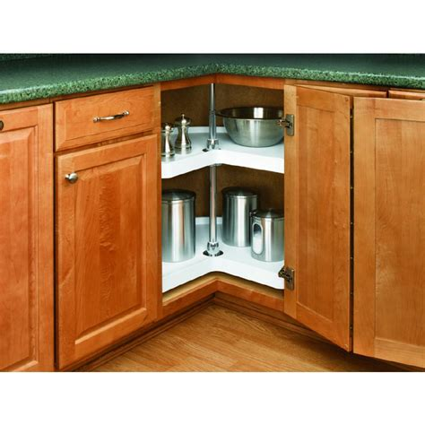 Kitchen Cabinet Lazy Susan Shop Rev A Shelf 2 Tier Plastic Kidney Cabinet Lazy Susan At Lowes