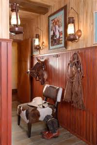Western Bedroom Decorating Ideas hang a small kid s saddle in a hallway with tack chaps and other