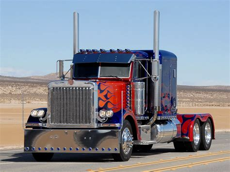 peterbilt semi trucks truckers images optimus prime peterbilt 379 hd wallpaper