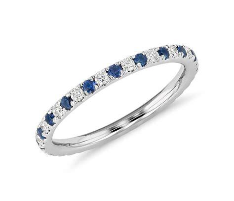 riviera pave sapphire  diamond eternity ring