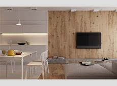 Modest Size Modern Interiors That Flirt With Feature Walls 1 Bedroom Apartment Interior Design