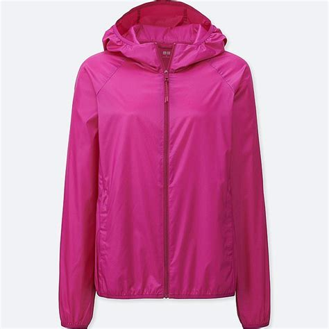 light womens s lightweight packable hooded jacket uniqlo us