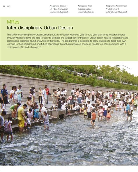 mres inter disciplinary urban design  bartlett school