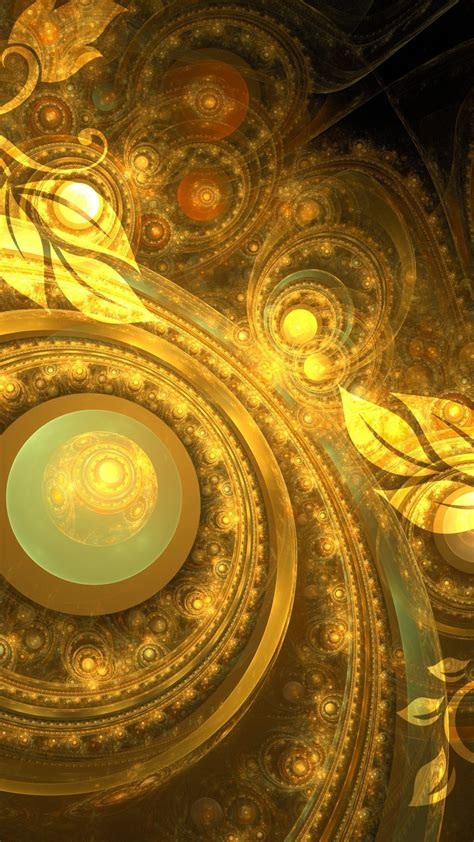 yellow fractal  uhd wallpaper