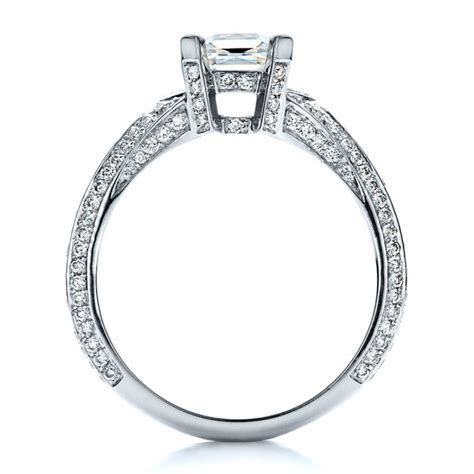 princess cut pave engagement ring 1467