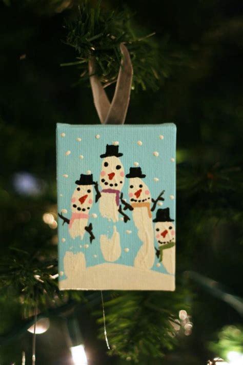 snowman handprint ornament diy ornaments using and