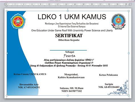 contoh sertifikat magang service laptop