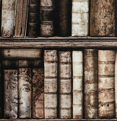 trompe l oeil wallpaper antique bookshelves bibliotheque trompe l oeil wallpaper