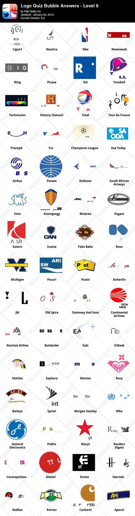 logo quiz level 9 answers by logo quiz answers iplay my