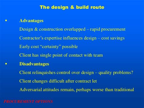 design management advantages procurement system