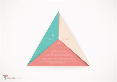 Origami Triangle - origami triangle design vector free vector