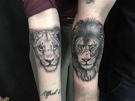 lion and lioness tattoo 55 sibling tattoos to relive the undying bond