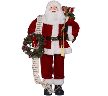 4 foot oversized santa figure by valerie page 1 qvc