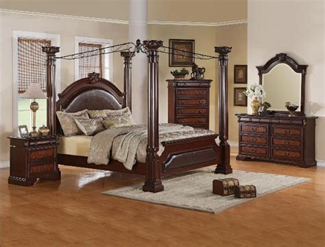 Carey Canopy Bedroom Set Furniture Houston Cheap Discount Canopy Bedrooms