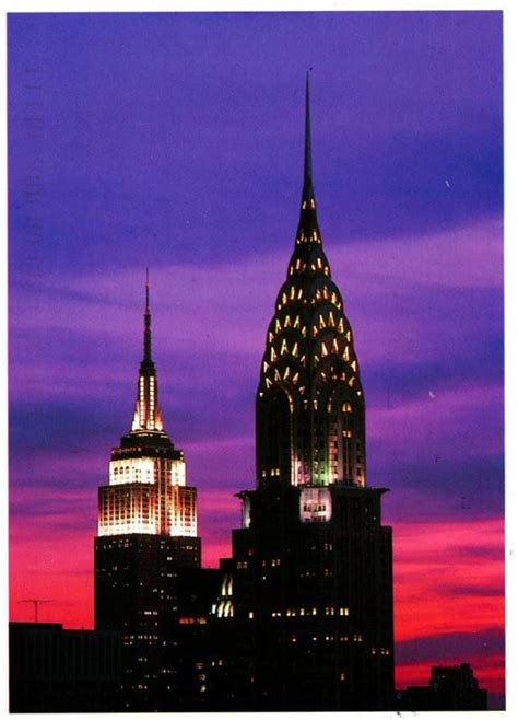 chrysler building and empire state building photo usa new york chrysler building and empire state