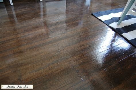 Craft Paper Floor - how to make paper faux wood plank floor diy crafts
