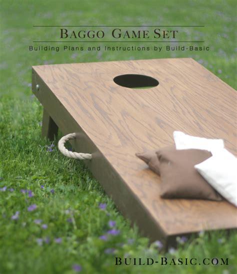 Build a Baggo Game Set ? Build Basic