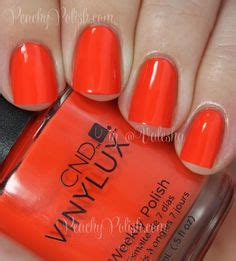 by terry terrybly nail lacquer 4 electric vermillion at barneyscom cnd vinylux rouge red peachy polish nails pinterest