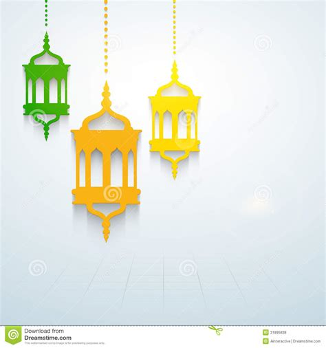 Chandelier Decorations Muslim Community Holy Month Of Ramadan Kareem Stock
