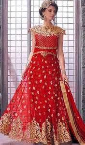red color net embroidered long anarkali dress kaneesha