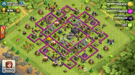 clash of clans level 7 base car interior design clash of clans town hall 9 defense