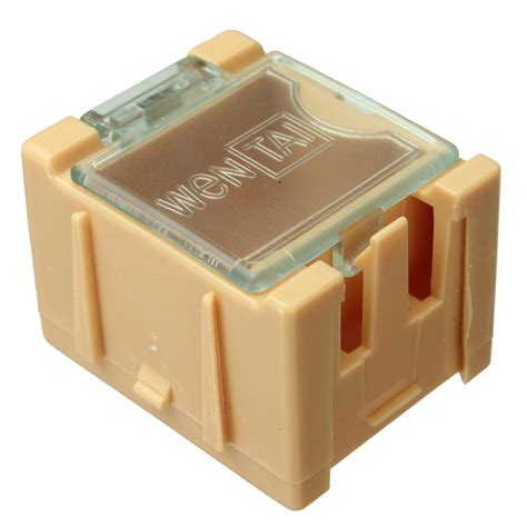 smd resistor material 1pc mini esd smd chip resistor capacitor component box 5 color alex nld