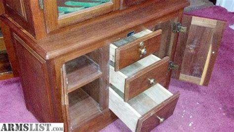 solid wood 6 gun cabinet armslist for trade 6 gun solid wood cabinet