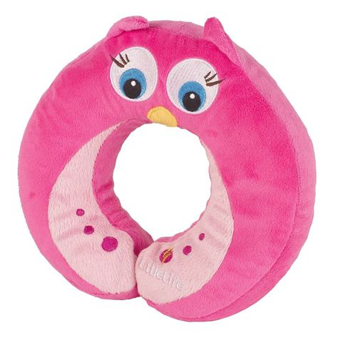 Pink Owl Pillow by Littlelife Pink Owl Child Travel Neck Pillow Cushion