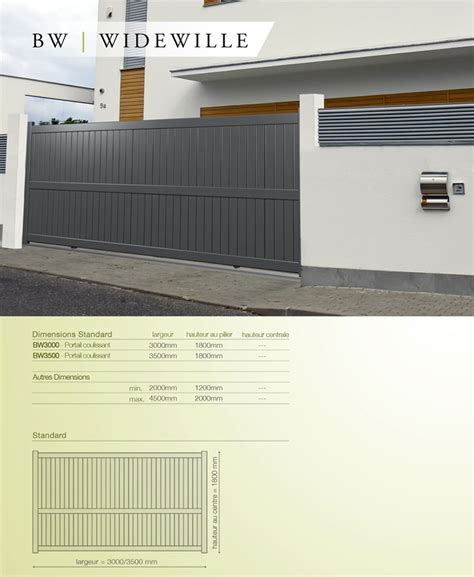 Portail Pvc 694 by Portail Coulissant Aluminium Widewille