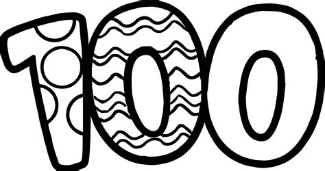 number 100 template number 80 coloring page coloring pages