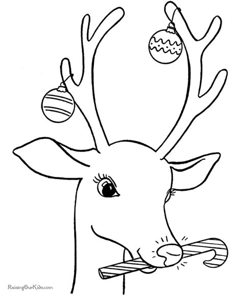 coloring pages for christmas reindeer free coloring pages of reindeer christmas