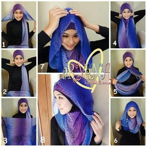 kreasi tutorial hijab segitiga simple terbaru hijabtuts