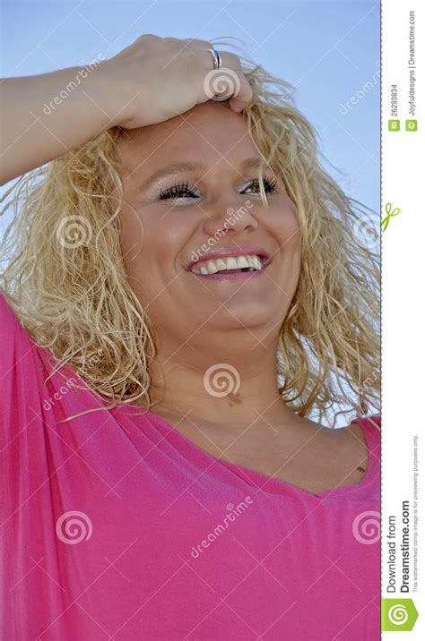 blonde hair for middle age women middle aged blond woman happy stock images image 26293834