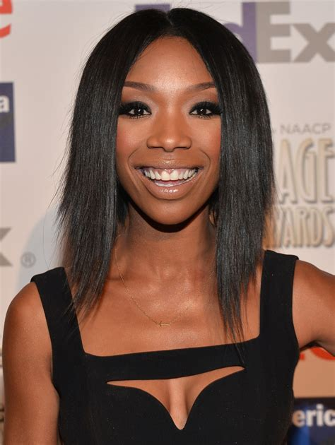 brandy the game hair cut brandy in 45th naacp image awards non televised awards