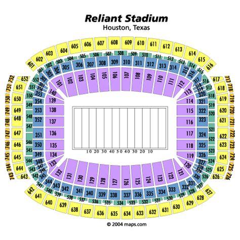 houston reliant stadium seating chart houston texans tickets reliant stadium nfl texans