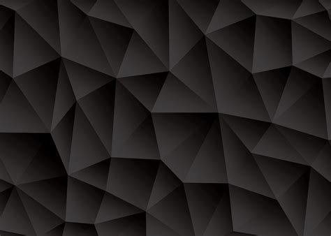 black abstract wallpaper vector triangle abstract black background vector download free