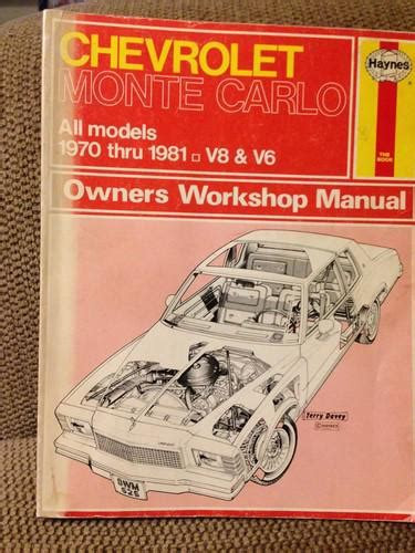 purchase haynes repair manual chevrolet monte carlo 1970 1988 motorcycle in chandler arizona