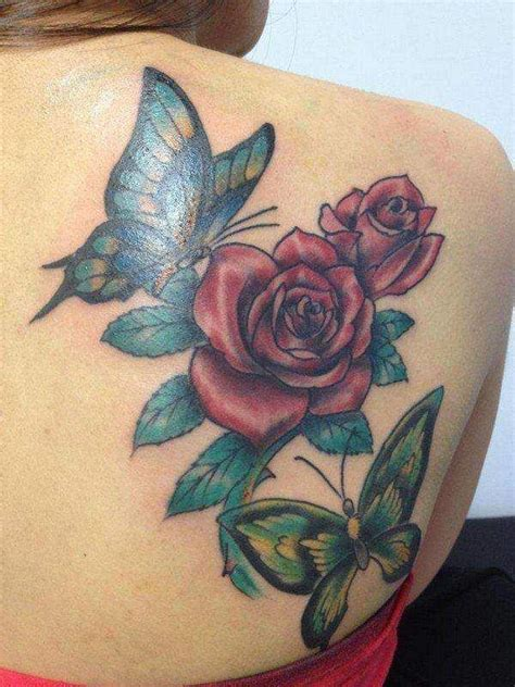 finger tattoo verheilt beautiful red roses with flying butterflies tattoo in girl