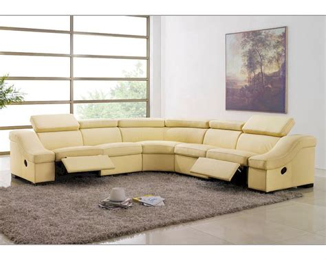 reclining leather sectional sofas leather reclining sectional sofa set esf8021