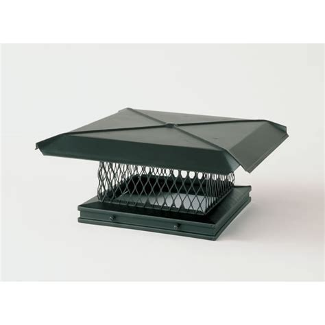 Fireplace Cap by Gelco 17 In X 17 In Base Black Galvanized Steel Single