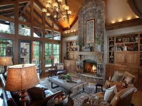 Low Ceiling Chandeliers Rustic Great Room With Built In Bookshelf By Joe Folsom