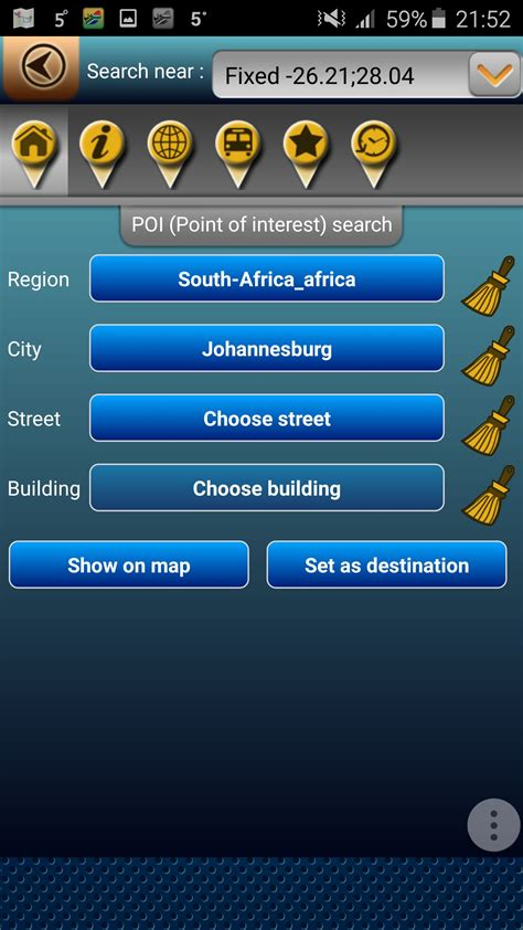 Address Search South Africa Map Of South Africa For Android