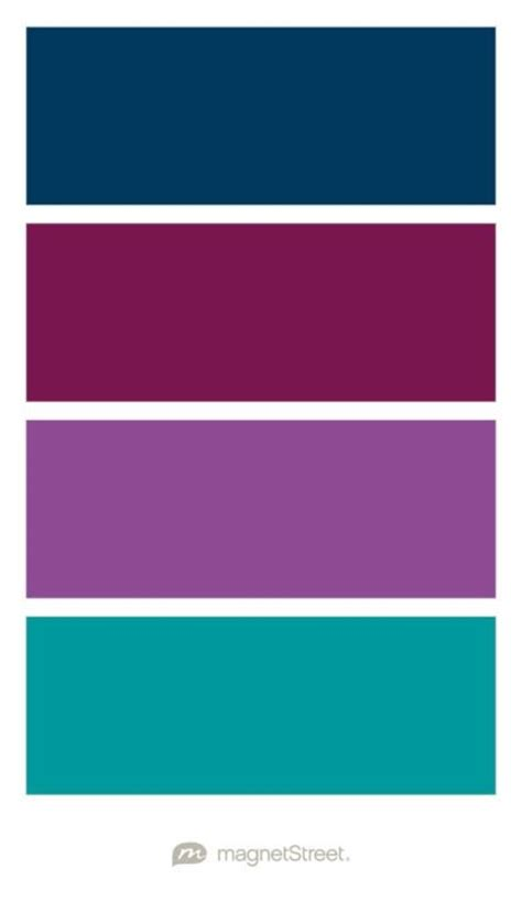 Navy, Sangria, Plumeria, and Teal Wedding Color Palette