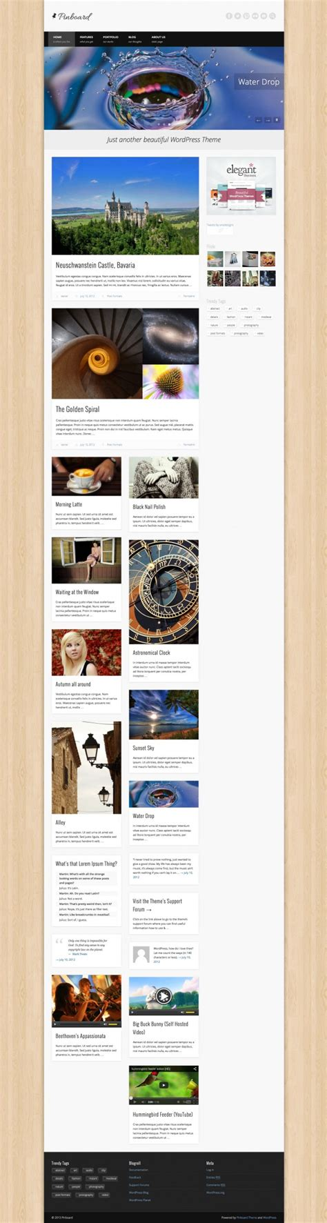 bgc just another wordpress site pinboard tema gratuito per wordpress in stile bacheca